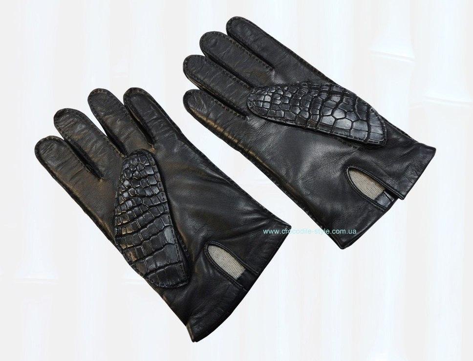 перчатки из кожи крокодила 0277