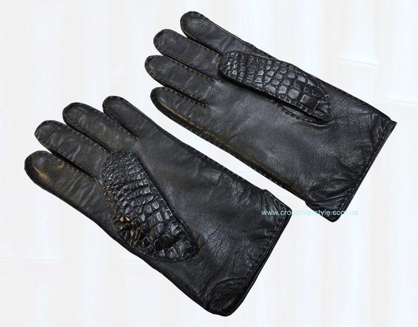 перчатки кожа крокодила 177