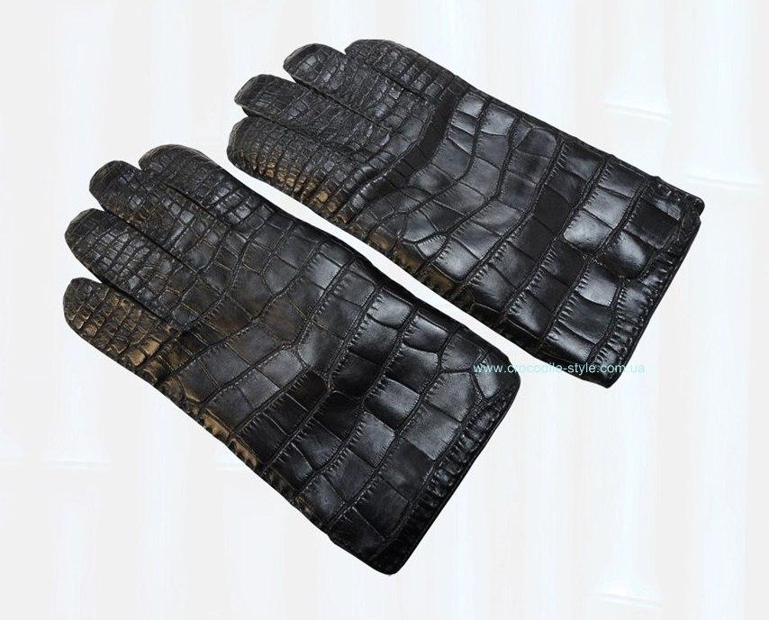 перчатки кожа крокодила 377