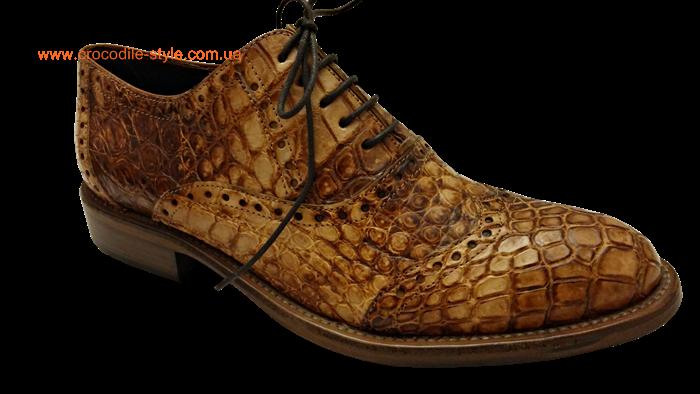 туфель из кожи крокодила