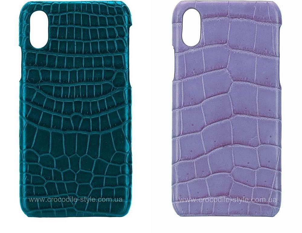 накладка-чехол из кожи крокодила на iPhone X